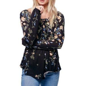 NWT Free People floral long sleeve top